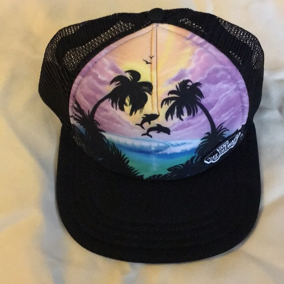 861b28e1102 ... get online 3286c 2b6b6 Vans Accessories Women Beach Girl Dolphin Trucker  Hat Snapback .. ...